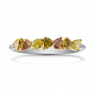 All Natural Multicolor Pear Diamond Band Ring, SKU 271119 (0.73Ct TW)