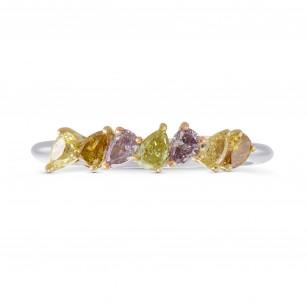 Multicolored Pear Diamond Band Ring, SKU 271120 (0.58Ct TW)