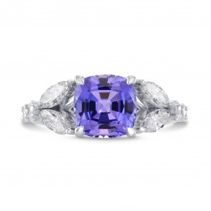 Tanzanite Cushion & Marquise Diamond Ring, SKU 271824 (3.37Ct TW)