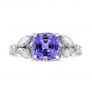 Tanzanite Cushion & Marquise Diamond Ring, SKU 271824 (3.37Ct TW)