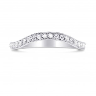 Custom Contoured Diamond Wedding Band, SKU 27373R (0.30Ct TW)