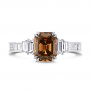 Trapezoid and Emerald Cut Diamond Side Stones Ring, SKU 274971 (1.96Ct TW)