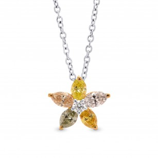 Multicolor Marquise Diamond Pendant, SKU 275009 (0.47Ct TW)