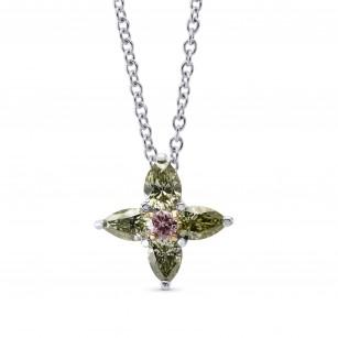 Green & Pink Marquise Diamond Pendant, SKU 275011 (0.45Ct TW)
