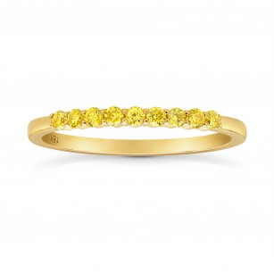 9 Stone Fancy Intense Yellow Diamond Band Ring, SKU 275662 (0.20Ct TW)