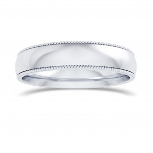 Wedding Band with Milgrain-4.0MM, SKU 27681R