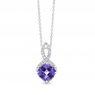 Tanzanite & Diamond Drop Pendant, SKU 27716R (2.12Ct TW)