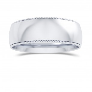 Wedding Band with Milgrain-6.0MM, SKU 27796R