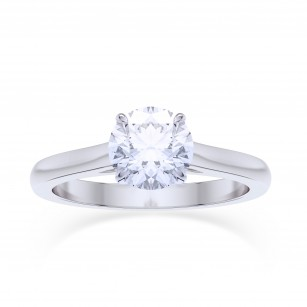 GIA, 0.70Ct Classic Round Brilliant Diamond Solitaire Ring, SKU 27813R (0.70Ct)