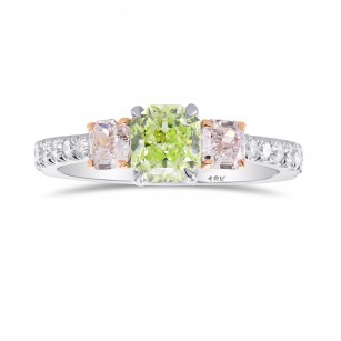 Green & Pink Diamond 3 Stones Ring, SKU 278176 (1.67Ct TW)