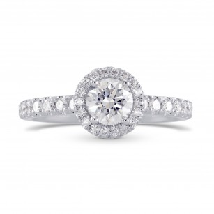 Colorless Round Brilliant Diamond Halo Ring, SKU 27857R (1.00Ct TW)