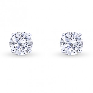 Round Brilliant Diamond Stud Earrings, SKU 27862R (0.50Ct TW)