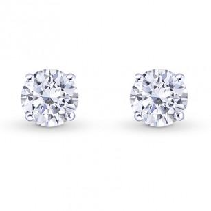 GIA, Round Brilliant Diamond Stud Earrings, SKU 27863R (1.00Ct TW)