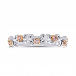 Pink Diamond Floral Band Ring, SKU 27931R (0.12Ct TW)