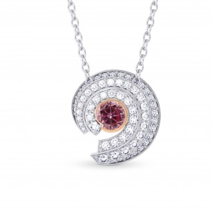 Spiral Round Diamond Pendant, SKU 27969S