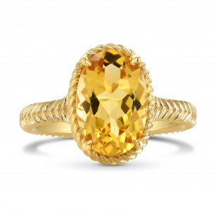 Oval Citrine & Gold Rope Ring, SKU 280327 (2.85Ct)