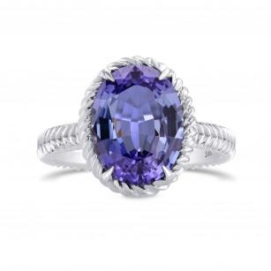 Blue Oval Tanzanite Designer Ring, SKU 280328 (4.04Ct)