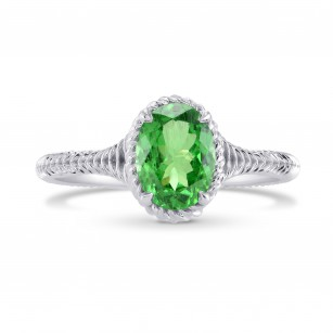 Green Tsavorite Solitaire Ring, SKU 280329 (1.28Ct)