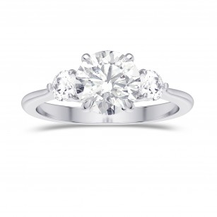 GIA  Round Brilliant 3 Stone Diamond Ring, SKU 28090R (1.90Ct TW)