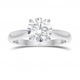 1.00ct. GIA Cathedral Round Brilliant Diamond Solitaire Ring, SKU 28094R (1.00Ct)