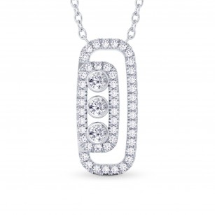 Round Brilliant Diamond Drop Pendant, SKU 28115R (0.56Ct TW)