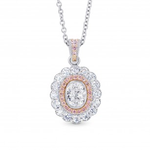 Oval Diamond Scalloped Halo Pendant, SKU 28116R (0.97Ct TW)