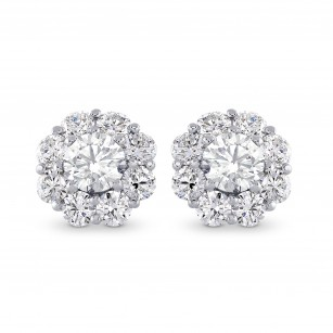 Round Brilliant Diamond Halo Earrings, SKU 28119R (2.30Ct TW)