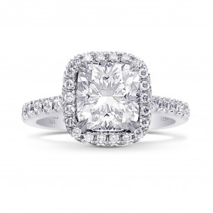GIA Cushion Diamond Regal Halo Ring, SKU 28121R (2.55Ct TW)