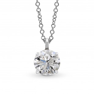 Round Solitaire Diamond Pendant, SKU 28141R (0.70Ct)