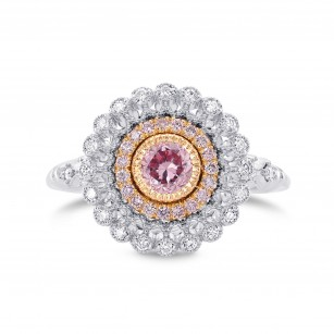 Argyle Fancy Intense Purplish Pink Diamond Ring, SKU 282521 (0.68Ct TW)