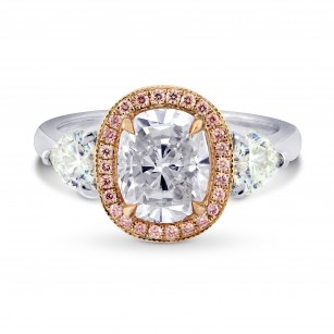 Pink Diamond & Heart Halo Ring Setting, SKU 2825S