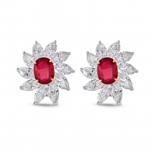 Extraordinary Ruby and Diamond Couture Earrings, SKU 28273V (16.24Ct TW)
