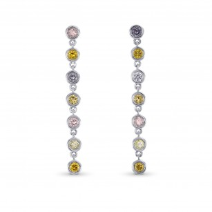 Mix Color Diamonds Drop Earrings, SKU 283089 (0.42Ct TW)