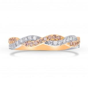 Pink & White Diamond Woven Band Ring, SKU 283232 (0.49Ct TW)
