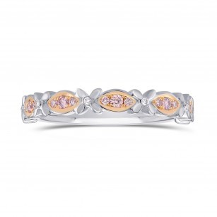 Pink Diamond Wedding Ring, SKU 283233 (0.15Ct TW)