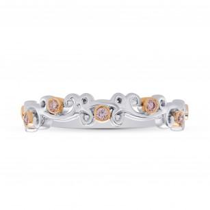 Pink Diamond Floral Band Ring, SKU 283234 (0.13Ct TW)
