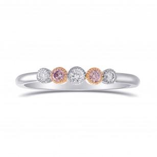 Five Stone Pink & White Diamond Band Ring, SKU 283251 (0.17Ct TW)