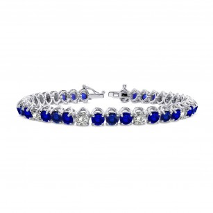 Diamond & Sapphire Tennis Bracelet, SKU 28371R (11.52Ct TW)