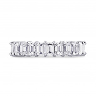 Platinum Emerald-Cut Diamond Full Eternity Band Ring, SKU 28411V (4.19Ct TW)