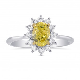 Fancy Yellow Oval Diamond Engagement Ring, SKU 284245 (1.35Ct TW)