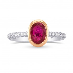 Unheated Ruby & Pink Diamond Engagement  Ring, ARTIKELNUMMER 284309 (2,13 Karat TW)