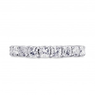 Platinum Cushion-Cut Diamond Full Eternity Band Ring, SKU 28441V (3.00Ct TW)