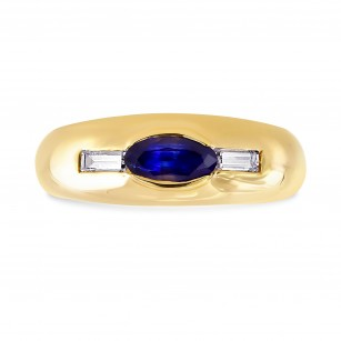 Sapphire & Diamond Men's Ring, SKU 28456V (0.96Ct TW)