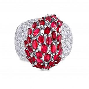 Ruby & Diamond Ring, SKU 28473V (3.84Ct TW)