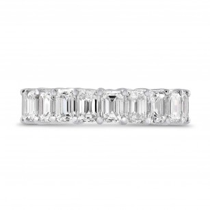 Platinum Emerald-Cut Diamond Full Eternity Band Ring, SKU 28487V (5.10Ct TW)