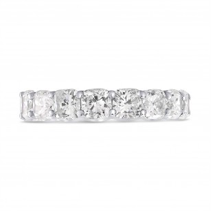 Platinum Cushion-Cut Diamond Full Eternity Band Ring, SKU 28488V (6.52Ct TW)