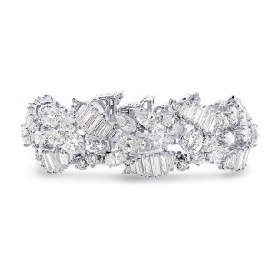 Extraordinary Fancy Shape White Diamond Bracelet, SKU 28522V (37.00Ct TW)