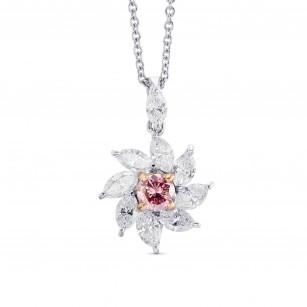 Argyle Pink and White Diamond Halo Pendant, SKU 28572V (1.88Ct TW)