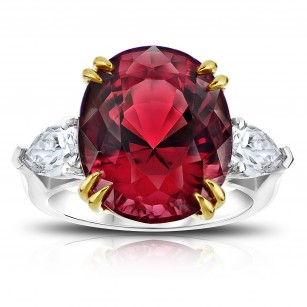 15.13 Carat Oval Red Spinel Ring, SKU 28641V (16.16Ct TW)