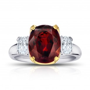 Red Spinel (Burma) and Diamond Ring, SKU 28890V (6.00Ct TW)